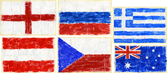 Painted flags