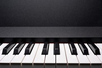 Copyspace image of piano keyboard