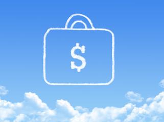 Money bag cloud shape