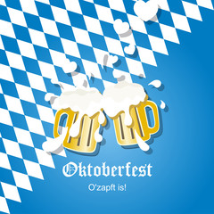 In love beer Oktoberfest 2014 vector