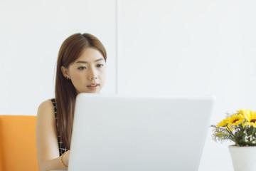 Lifestyle Laptop Working Business User Enjoying