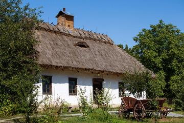 Wooden old houses , Kiev, Ukraine