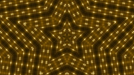 abstract loop motion background, gold star light