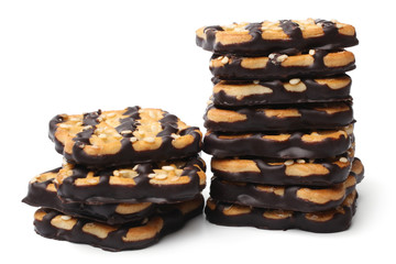 Cookies with sesame and chocolate