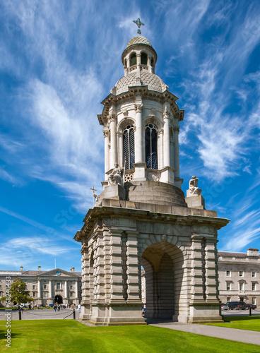 Leinwanddruck Bild The Campanelli (Bell Tower) at Trinity College, Dublin, Ireland
