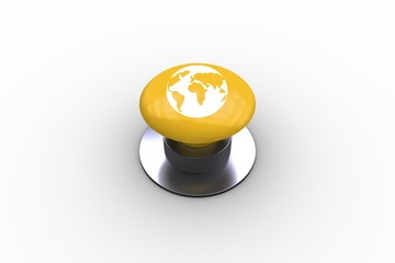 Composite image of earth graphic on button