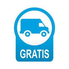 Etiqueta tipo app azul redonda furgoneta GRATIS