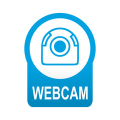 Etiqueta tipo app azul redonda WEBCAM