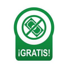 Etiqueta tipo app verde redonda GRATIS