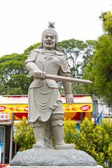 Statue of divine general of Bhaisajyaguru Buddha