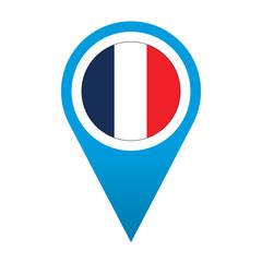 Icono localizacion simbolo idioma frances