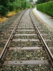Schienenstrang mit Kurve