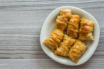 Turkish Pistachio Pastry Dessert