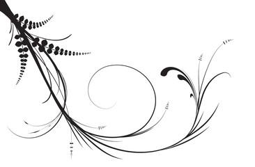Illustration of swirl leaves.