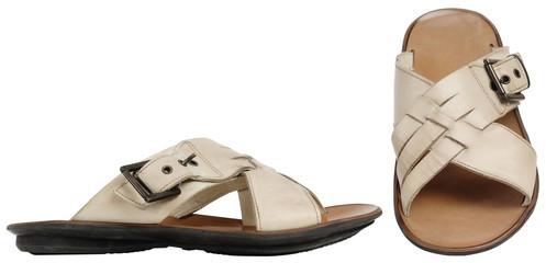 Beige man's sandals