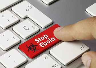 Stop ebola virus. Keyboard