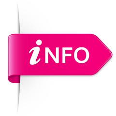 Pinker Sticker Pfeil – INFO