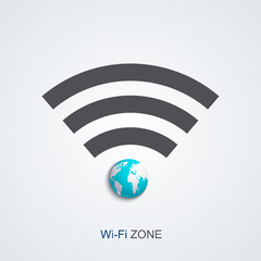 Vector modern wifi zone icon