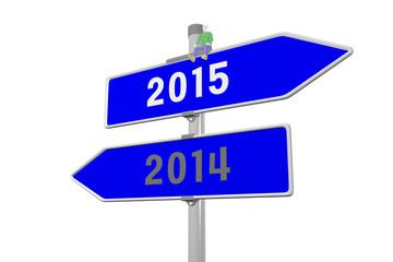 Jahreswechsel von 2014 zu 2015
