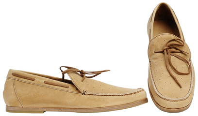 Beige male shoes