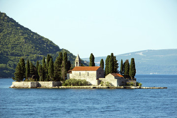 Montenegro - old medieval church on island