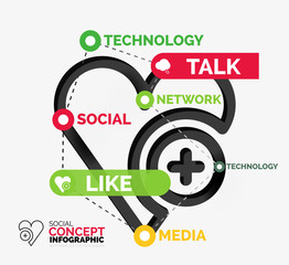 Social like infographic keywords