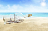 Fototapety Ship in a bottle