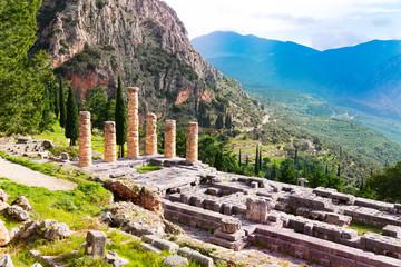 The ruins of Apollo temple