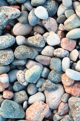 Pebbles on a shingle beach in Iona, Scotland