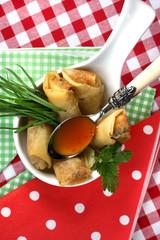 Asian Finger Food, Frühlingsrolle, vegetarisch