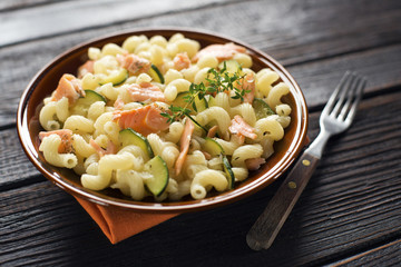 Pasta with salmon