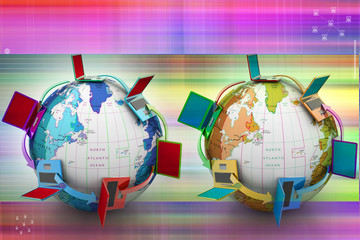 Computer network around the world