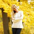 canvas print picture - Autumn woman