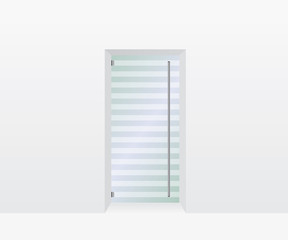 Glass door illustration