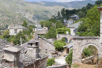 Old village of Kalarites at Tzoumerka in Greece