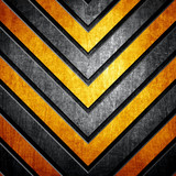 metal background with warning stripes - 68250499