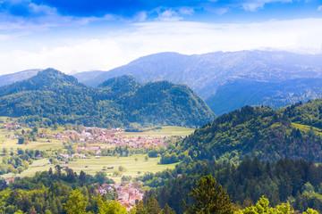 Villages in Alp mountains