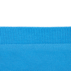 Texture of blue cotton cloth on a white background