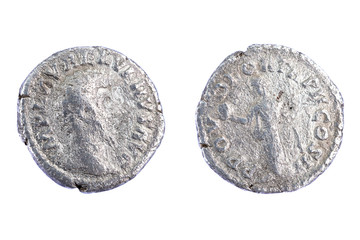Silver denarius - the Roman coins from Lucius Verus