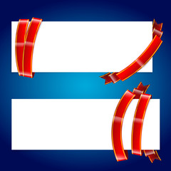 Banner with ribbon 001