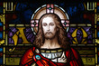 Jesus Christ in stained glass - 68252620