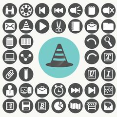 Application interface icons set. Illustration eps10