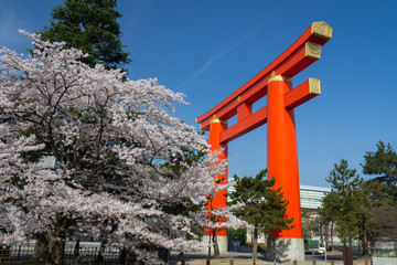 Shinto arch in Kyoto Japan