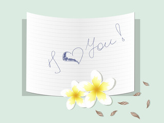 Plumeria with a note about love