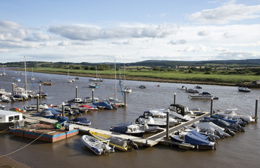 Moorings on the River Exe at Topsham south Devon England UK