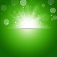 Sunshine Green Background