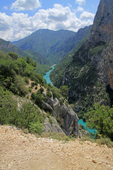 Beautiful canyon in France