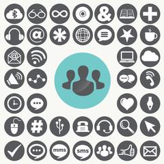 Social network icons set. Illustration eps10