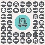 Truck icons set. Illustration eps10