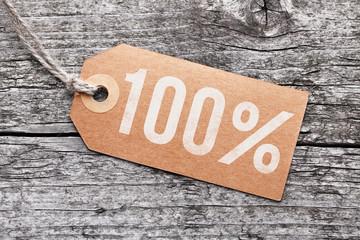 "Label ""100%"""